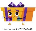 holiday orange gift box... | Shutterstock .eps vector #769840642