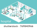isometric flat interior of... | Shutterstock .eps vector #769840966