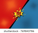 comic book versus background.... | Shutterstock .eps vector #769843786