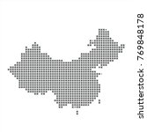 pixel map of china. vector...