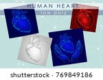 human heart low poly medicine... | Shutterstock .eps vector #769849186