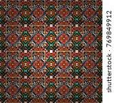 vector geometric black  white... | Shutterstock .eps vector #769849912
