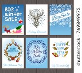 set of beautiful cards with... | Shutterstock .eps vector #769849972