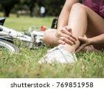 Concept Bike Accident  Woman...