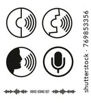 voice recognition icons set....   Shutterstock .eps vector #769853356