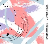 vector grunge minimalistic... | Shutterstock .eps vector #769856536