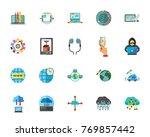internet technology icon set   Shutterstock .eps vector #769857442