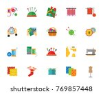 handmade icon set | Shutterstock .eps vector #769857448