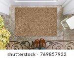 blank doormat before the door... | Shutterstock . vector #769857922