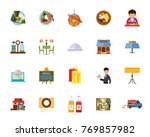 cafe icon set | Shutterstock .eps vector #769857982