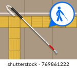 tactile paving assist blind... | Shutterstock .eps vector #769861222