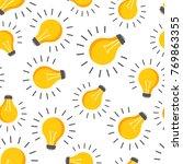 halogen lightbulb seamless... | Shutterstock .eps vector #769863355