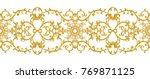 seamless pattern. golden... | Shutterstock . vector #769871125