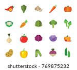 vegetables icon set | Shutterstock .eps vector #769875232