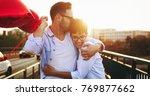sentimental couple in love... | Shutterstock . vector #769877662