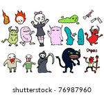 scary monsters  super creeps... | Shutterstock .eps vector #76987960