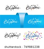 handwritten christmas card.... | Shutterstock .eps vector #769881238