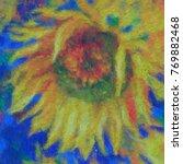 Sunflowers Digital Oil Painting ...