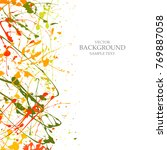 art  background  with  paint ... | Shutterstock .eps vector #769887058