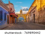 the colorful main street of... | Shutterstock . vector #769890442