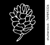 pinecone vector illustration.... | Shutterstock .eps vector #769892326