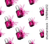 nail polish manicure vector... | Shutterstock .eps vector #769896652
