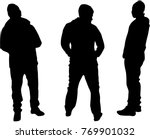 black silhouette of a man. | Shutterstock .eps vector #769901032