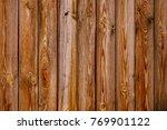 rustic wood wall. brown wood... | Shutterstock . vector #769901122