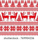new year's christmas pattern... | Shutterstock .eps vector #769904236