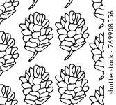 pinecone vector illustration.... | Shutterstock .eps vector #769908556