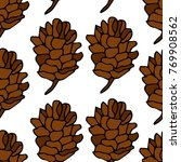 pinecone vector illustration.... | Shutterstock .eps vector #769908562