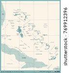 the bahamas map  vintage high... | Shutterstock .eps vector #769912396