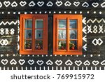 unique decoration of log houses ... | Shutterstock . vector #769915972