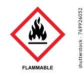 hazard warning sign flammable | Shutterstock .eps vector #769926052