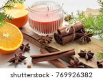 fresh oranges with anisestars ... | Shutterstock . vector #769926382