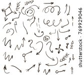 arrow doodles vector. a set of...   Shutterstock .eps vector #769929046