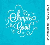simple good typography cyan... | Shutterstock .eps vector #769934575