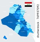 iraq map and flag   high... | Shutterstock .eps vector #769937092