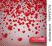 heart confetti of valentines...   Shutterstock .eps vector #769937176