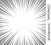 speed lines isolated on white....   Shutterstock .eps vector #769939612