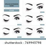different types of eyelash... | Shutterstock .eps vector #769945798