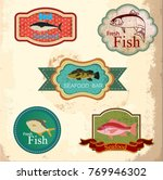 seafood labels collection... | Shutterstock .eps vector #769946302
