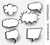 speech bubbles element   Shutterstock .eps vector #769950445