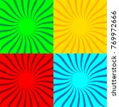 set of colored pop art...   Shutterstock .eps vector #769972666
