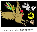 illustration depicting a flying ... | Shutterstock .eps vector #769979926