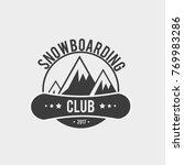 snowboard club logo  label or... | Shutterstock . vector #769983286