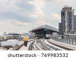 inspector  engineer  checking... | Shutterstock . vector #769983532
