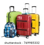 travel  baggage  luggage. | Shutterstock . vector #769985332