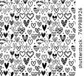 hand drawn seamless pattern...   Shutterstock .eps vector #769988926