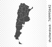 argentina map isolated on... | Shutterstock .eps vector #769993642